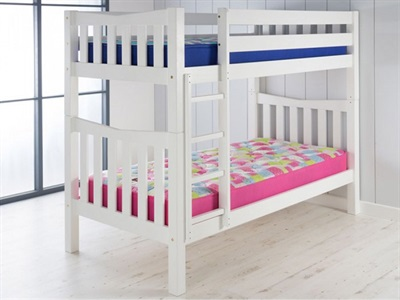 AirSprung Hampton 3 Single White No Drawer Bunk Bed