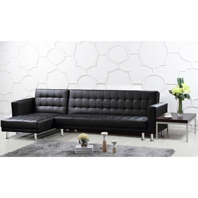 Product photograph showing Hawthorn Corner Multi Functional Sofa Bed Pu And Pvc Brown