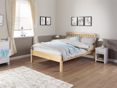 Silentnight Hayes - Pine 4 6 Double Pine Slatted Bedstead Wooden Bed