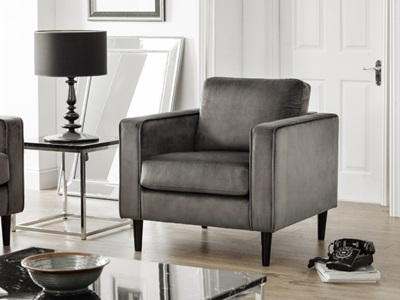 Product photograph showing Hayward Velvet Armchair