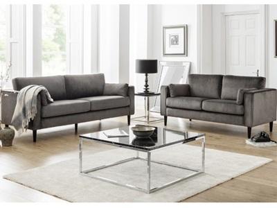 Product photograph showing Hayward Velvet 2 Seater Sofa