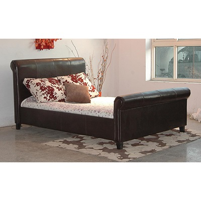Product photograph showing Henley Pu Faux Leather Bed
