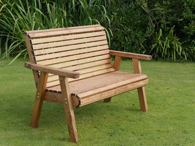 Product photograph showing Dales High Back 3 Seater Bench