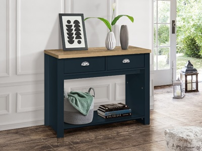 Product photograph showing Highgate 2 Drawer Console Table