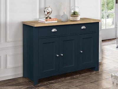 Product photograph showing Highgate 3 Door 2 Drawer Sideboard