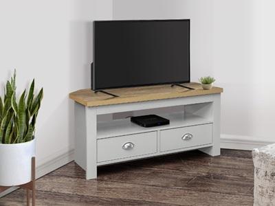 Product photograph showing Highgate Corner Tv Unit