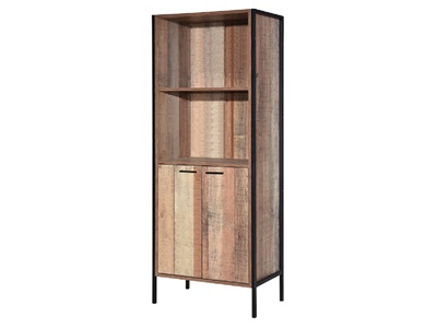 Product photograph showing Hoxton Bookcase Display Cabinet