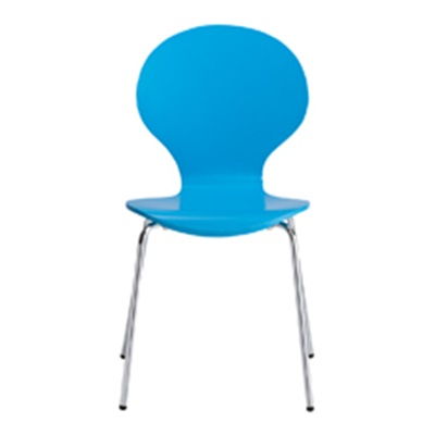 Product photograph showing Ibiza Dining Chair Blue Pack Of 4