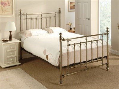 Bentley Designs Imperial Antique Brass 4 6 Double Antique Brass Slatted Bedstead Metal Bed