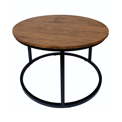 Product photograph showing Java Coffee Table Black Frame-distressed Tops