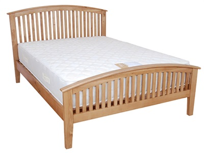 Balmoral Jersey 4 6 Double Oak Bed Frame Only Wooden Bed