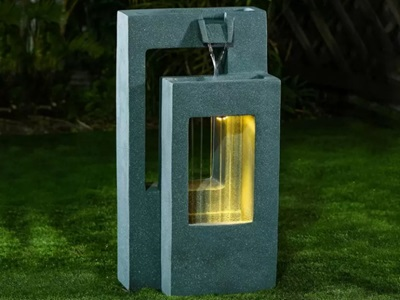 Product photograph showing Jonah Water Feature - Light Green