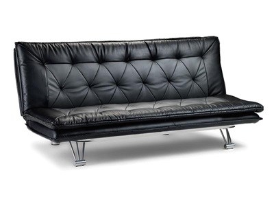 Julian Bowen Elan Sofa Bed 3 Single Black and Grey Other Sofa Bed