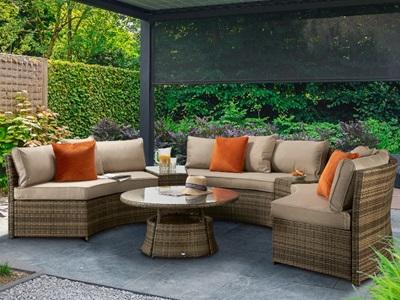 Product photograph showing Juliet Half Moon Sofa Set