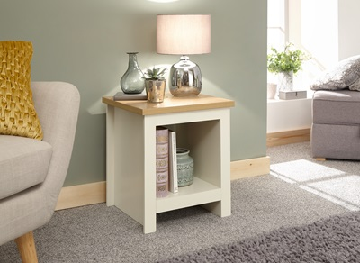 Product photograph showing Lancaster Side Table With Shelf