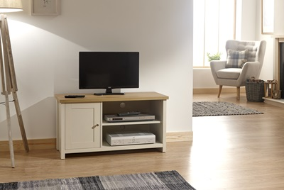 Product photograph showing Lancaster Small Tv Cabinet