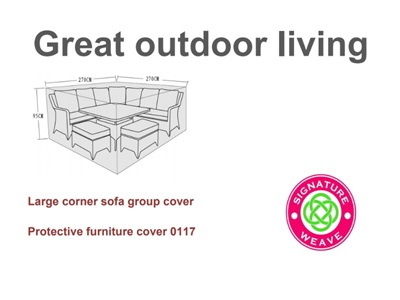Product photograph showing Furniture Cover - Sarah Constance Corner Sofa Sets
