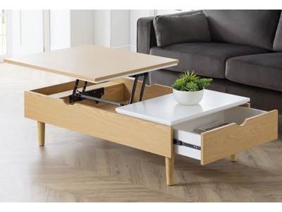 Product photograph showing Latimer Lift-up Coffee Table