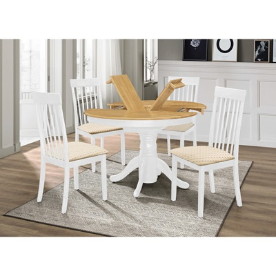 Product photograph showing Leicester Dining Set With 4 Chairs