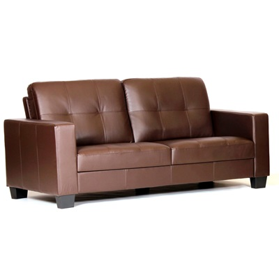 Product photograph showing Lena Bonded Leather And Pvc 3 Seater Sofa