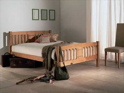 Limelight Sedna 4 6 Double Natural Slatted Bedstead Wooden Bed