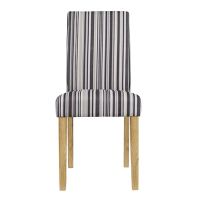 Product photograph showing Lorenzo Dining Chair Striped Pack Of 2
