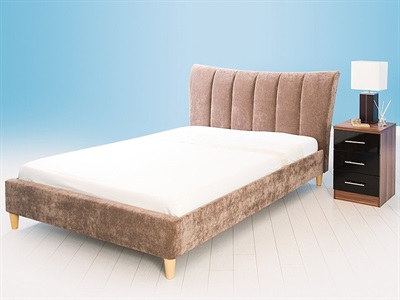 GFW Luciana 4 6 Double Chocolate Fabric Fabric Bed