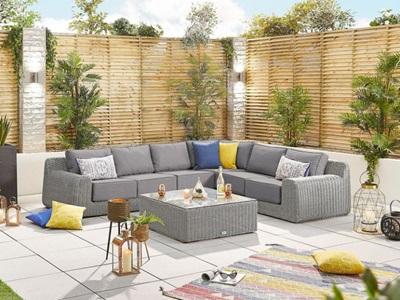 Product photograph showing Heritage Luxor 1f Corner Sofa Set