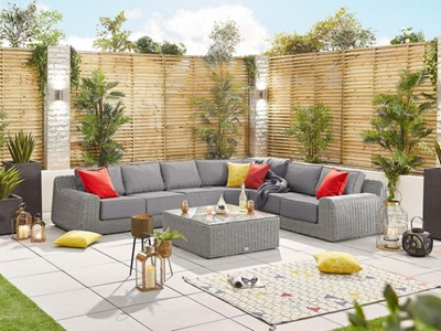 Product photograph showing Heritage Luxor 2f Corner Sofa Set