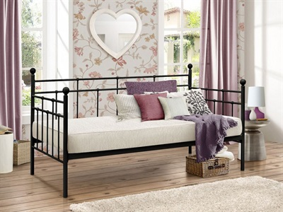 Birlea Lyon Day Bed 3 Single Black Metal Bed