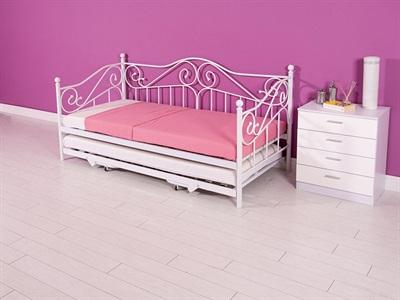 GFW Madison 3 Single White Metal Stowaway Bed