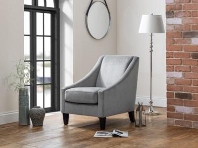 Product photograph showing Maison Velvet Chair - Slate Grey