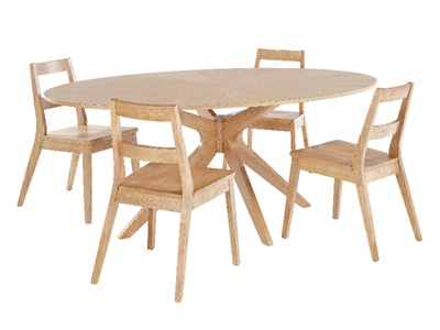 Product photograph showing Malmo Dining Table
