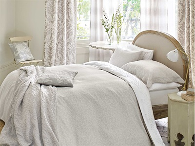 Product photograph showing Manderley Duvet Cover Dove Silver