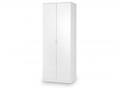 Julian Bowen Manhattan 2 Door Wardrobe White Wardrobe