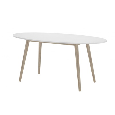 Product photograph showing Mapleton Dining Table Oval