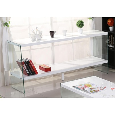Product photograph showing Marco White High Gloss And Glass Sideboard
