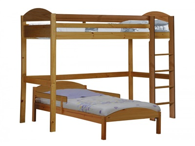 Verona Design Ltd Maximus L Shape High Sleeper 3 Single Antique High Sleeper