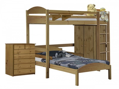 Verona Design Ltd Maximus L Shape Highsleeper Set 2 3 Single Antique High Sleeper