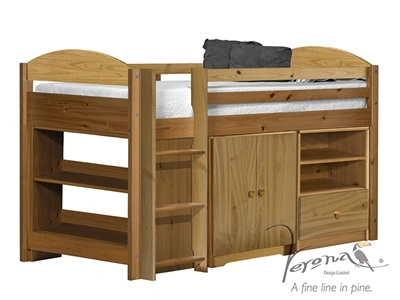 Verona Design Ltd Maximus Mid Sleeper Set 2 3 Single Antique Mid Sleeper Cabin Bed