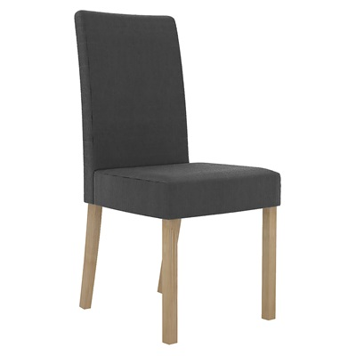 Product photograph showing Melodie Chair Charcoal Pack Of 2