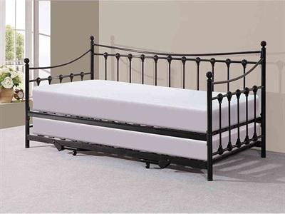 GFW Memphis 3 Single Black Metal Stowaway Bed