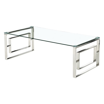 Product photograph showing Memphis Glass Coffee Table