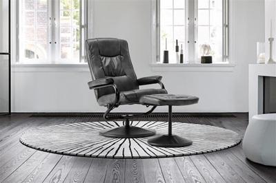 Product photograph showing Memphis Swivel Chair Black