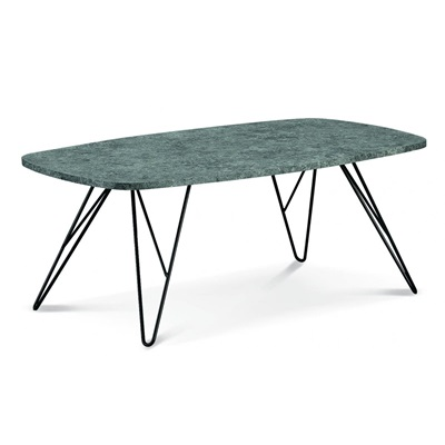 Product photograph showing Mercia Coffee Table Stone With Black Metal Legs