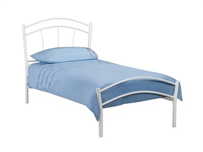 Julian Bowen Miah 3 Single White Metal Bed