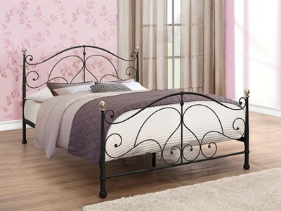 Birlea Milano Black 4 6 Double Black Metal Bed