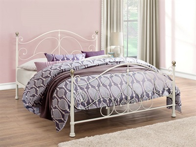 Birlea Milano Cream 4 6 Double Cream Metal Bed