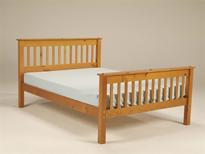 Balmoral Mission 3 Single Antique Bed Frame Only Wooden Bed