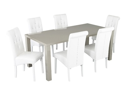 Product photograph showing Monroe Puro Large Dining Table Stone